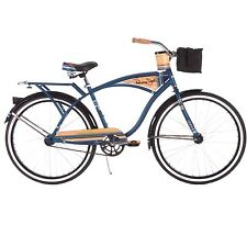 "Cruiser Bicycle Bike Huffy Panama Jack Vintage 26"" Midnight Blue Light Head Rack"