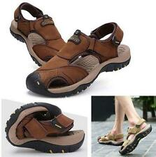 Fashion Men's Leather Beach Sandals Fisherman Casual sport Shoes sneaker