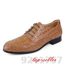2016 Men's crocodile leather shoes Black Light Brown Size 5-12 Casual Business