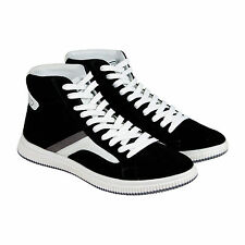 Diesel E-Kurw Mens Black Suede High Top Lace Up Sneakers Shoes