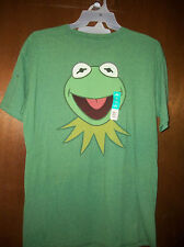 Muppets Kermit the Frog Head  Logo  t-shirt  NWT Large