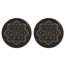 2pcs Black Wood Lotus Flower Flesh Ear Plug Tunnel Ear Expander Gauges Piercings