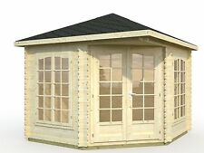 Garden Summer House Wooden Patio Cabin Office Shed Summerhouse 6x8m(DEAL ON NOW)