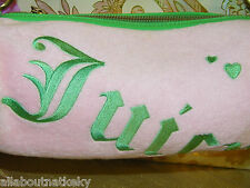 """JUICY COUTURE BARREL STYLE BAG """"JUICY""""  Pink / Green EUC *Free Shipping"""