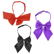 Adjustable Solid Color Bowknot Halter Neck Bow Tie for Women(Black) C1