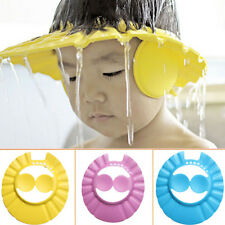 New Soft Baby Kids Children Shampoo Bath Bathing Shower Cap Hat Wash Hair Shield