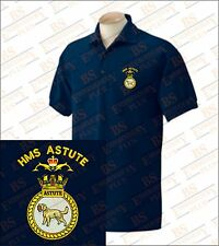 HMS Astute Embroidered Polo Shirts