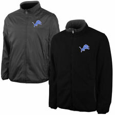 Detroit Lions NFL Pro Line Reversible Jacket - Charcoal/Black