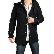 902Q4  casual Wool Coat Winter Trench Coat Overcoat Long Jacket