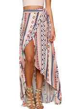 Sexy Summer new women bathing suit Ethnic Print Maxi Skirt Wrapped Beach dress