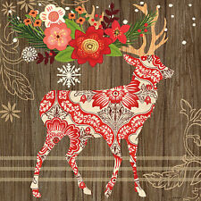 """""""Alpine Holiday Deer"""" by Jennifer Brinley Graphic Art on Wrapped Canvas"""