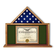 Army Flag Certificate Display Case, Flag Case Hand Made By Veterans