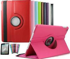 Apple iPad Rotating Leather Smart Cover Case w/ Screen Protector, Stylus, Cable