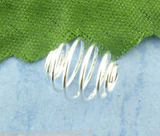 Wholesale Lots Silver Plated Spiral Bead Cages 8x9mm