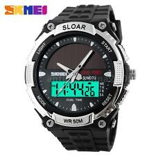 SKMEI Men SOLAR POWERED Digital Analog Tough Alarm Chronograph Quartz Watch V2Y6