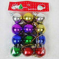 Chic Christmas Plain Glitter Baubles XMAS Tree Party Decor Hanging Ball Ornament