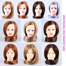 Cosmetology Training Head Mannequin,100% Synthetic Hair, Hairdressing Practice