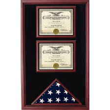 2 Documents Flag Display Cases Hand Made By Veterans