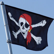1Pc Large Skull Crossbones Pirate Flag Jolly Roger Hanging With Grommet top