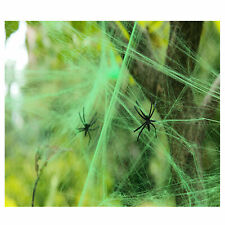 Spooky Halloween Scary Spider Web Party Decoration Cobweb with 2 Spiders