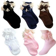 Baby Girls Cute Lace Ruffle Frilly Ankle Socks Sweet Princess Cotton Short Socks