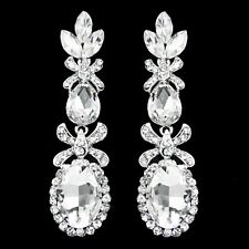 Earring Crystal Long Earrings with Colorful Stones Jewelry Women Fashion