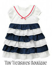 NWT GYMBOREE BLOOMING NAUTICAL RUFFLE SAILOR DRESS GIRLS 18-24 3T NEW