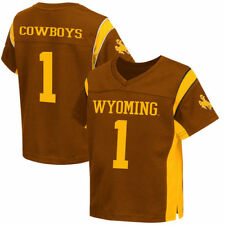#1 Wyoming Cowboys Colosseum Toddler Football Jersey - Brown - NCAA