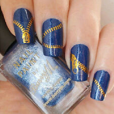 Nail Art Peacock Feather Zipper Stickers Nail Wraps Water Transfers Decal Ornate
