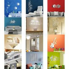 Removable Mirror Wall Tile Bathroom Decals Home Decor Vinyl Art Mural Sticker