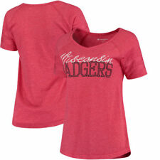 Wisconsin Badgers Champion Women's Triumph Sleeve Stripe T-Shirt - Red - NCAA