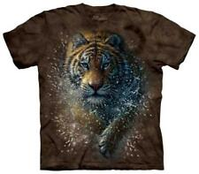 Tiger Splash T-Shirt Brown Shirt Tee New