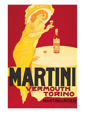 Martini and Rossi, Vermouth Torino Art Print Wall Art Decor Bedroom LivingRoom