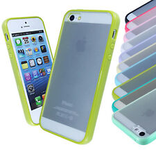 New Hard Transparent Back Soft Silicone Gel Bumper Case Cover FOR iPhone 5G