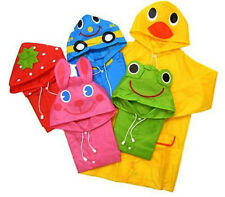 FAD Cartoon Baby Kids Toddler Boy Girl Hooded Rain Coat Raincoat Jacket New WB