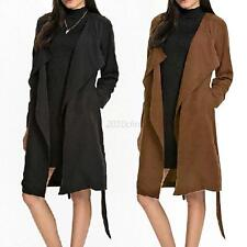 Autumn Women's Slim Long Coat Jacket Trench Windbreaker Parka Outwear Cardigan