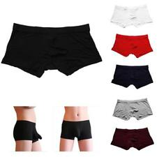 Mens Underwear Sexy Boxer Underpants Briefs Pouch Modal Soft Trunk