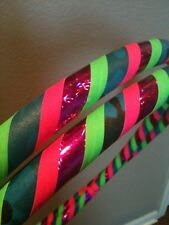 Tropic Recon DANCE & EXERCISE Hula Hoop COLLAPSIBLE pink green blue PUSH BUTTON