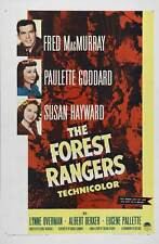 THE FOREST RANGERS Movie POSTER 27x40 Fred MacMurray. Paulette Goddard. Susan