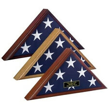 Spartacraft Veteran Flag Display Case,Cherry Hand Made By Veterans