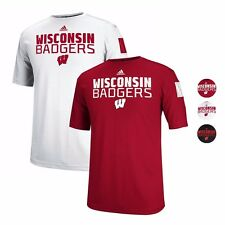 Wisconsin Badgers ADIDAS Climalite Sideline Performance T Shirt Collection Men's