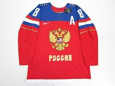 ALEX OVECHKIN TEAM RUSSIA NIKE 2014 SOCHI WINTER OLYMPICS MEN ICE HOCKEY JERSEY