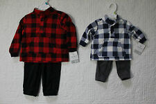 NEW CARTERS BOYS 2 PIECE SET FLEECE OUTFIT VARIOUS SIZES AND STYLES