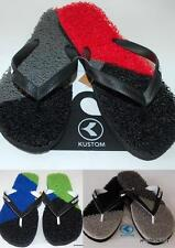 KUSTOM NEW Mens THONGS FLIP FLOPS LIME SPLICE RED LIME GREY  Noodle Rubber Sexy