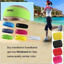 Unisex Running Sports Sweat band Headband Yoga Gym Stretch Head Hair Sweatband
