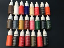23Colors Permanent Makeup Cosmetic Tattoo Ink Kit Micro Pigments Color 1/2 oz