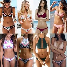 US Sexy Women Push-up Padded Bra Bikini Set Triangle Swimsuit Swimwear Bathers F