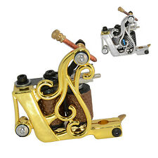 Tattoo Supply Casting Iron Alloy Machine Gun 8 Wrap Coils Shader For Kit Liner