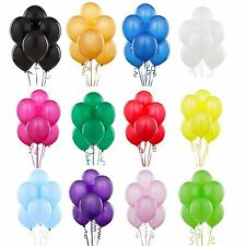 "10 "" HELIUM QUALITY LATEX BALOONS WEDDING BALLOONS IN 16 COLOURS BALLOONS RIBBON"