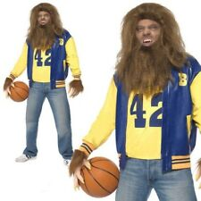 Teen Wolf Mens 80s Costume Licensed Fancy Dress Adults Werewolf